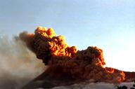Mount Merapi's eruption. Merapi Golf, Cangkringan, Sleman, Yogyakarta, Indonesia