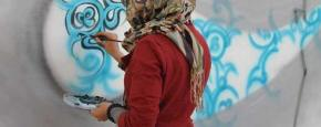 Shamsia Hassani, 'Sound Central Festival', Kabul, 2012. Dokumentasi pribadi seniman.